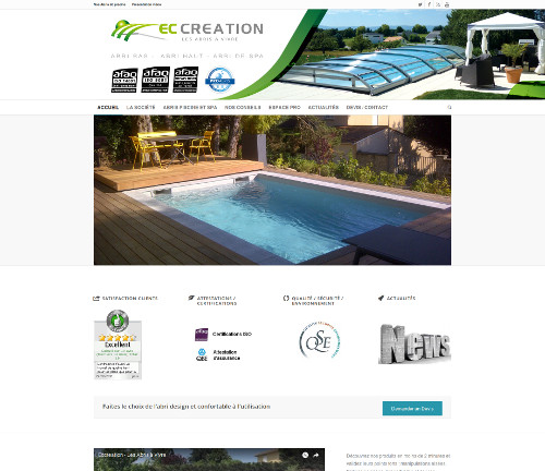 Fabricant abri piscine