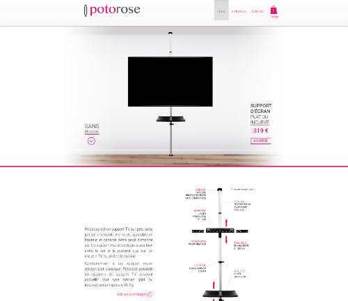 Support tv design