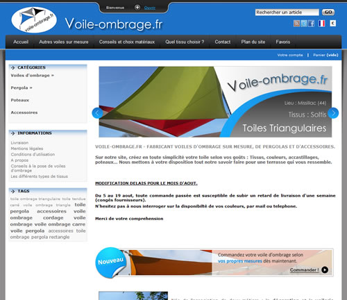 Voile ombrage